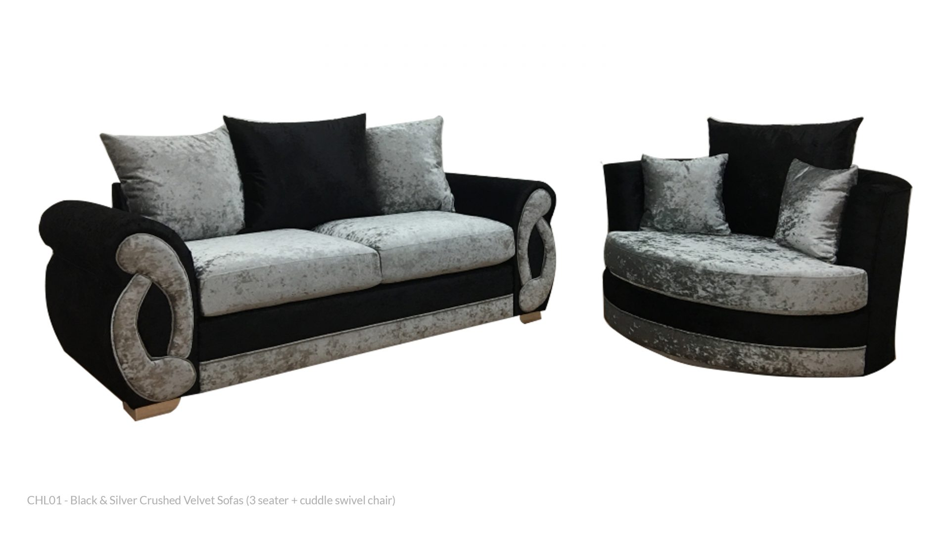 Crushed Velvet Sofas Rental Goods